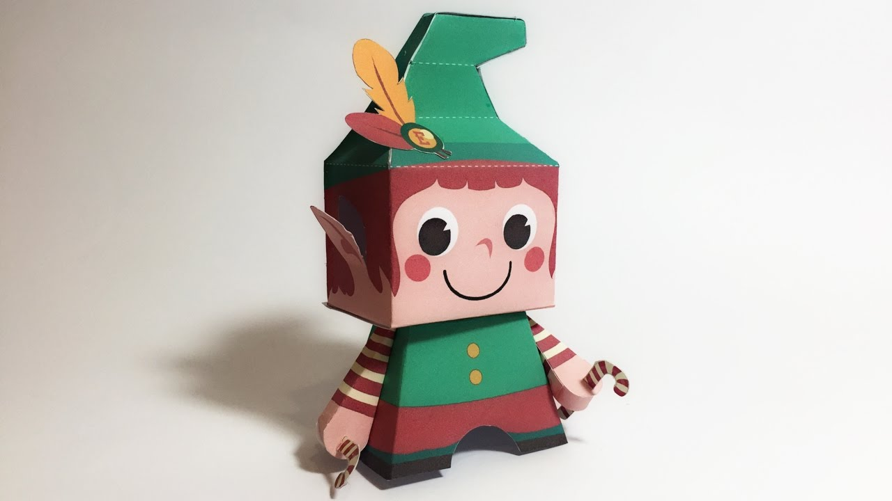 christmas elf paper toy tutorial youtube