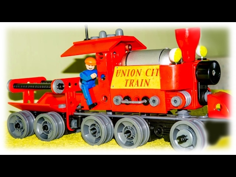 TRAINS FOR CHILDREN VIDEO: Choo Choo Set Union City Train Toys Review
