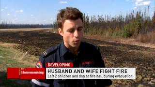 CBC News Network Ian Hanomansing speaks with a firefighter working in Fort McMurray