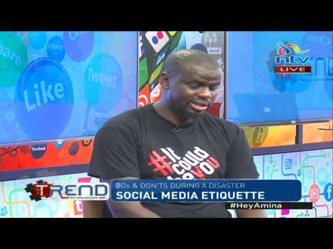 #theTrend: Social media Dos and Don'ts during a disaster
