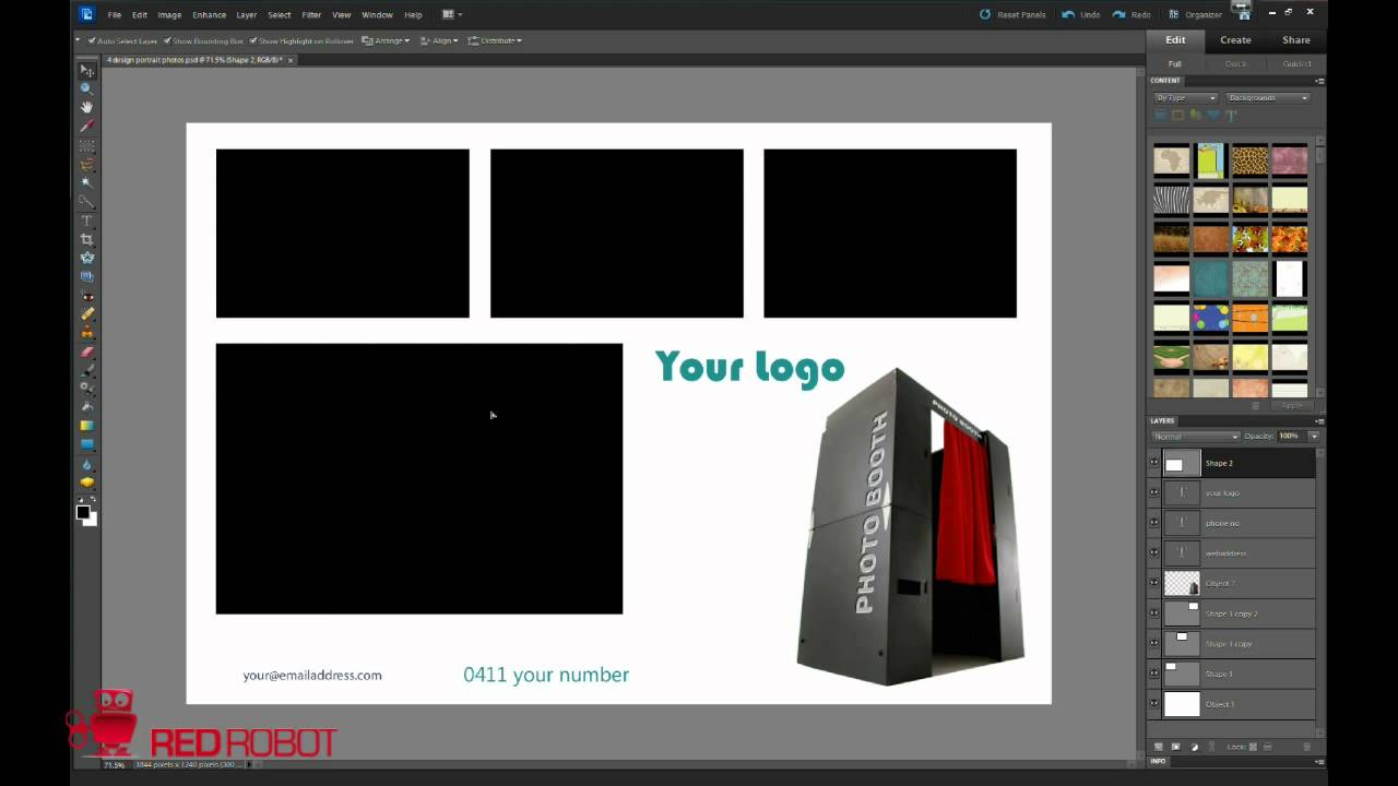 how to make custom backgrounds and presets in social booth and