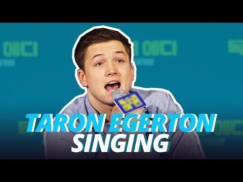 TARON EGERTON SINGING (REAL VOICE)