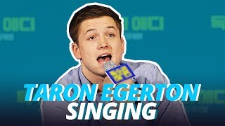 TARON EGERTON SINGING (REAL VOICE)