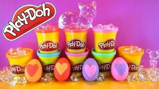 Play Doh Surprise Eggs, Sulley, Anna, Marshmallow Snow Monster, Hello Kitty- CKC