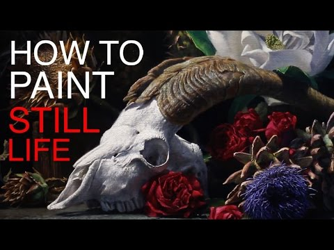 How to Paint a Still Life: EPISODE SEVEN - Vanitas with Goat Skull and Flowers