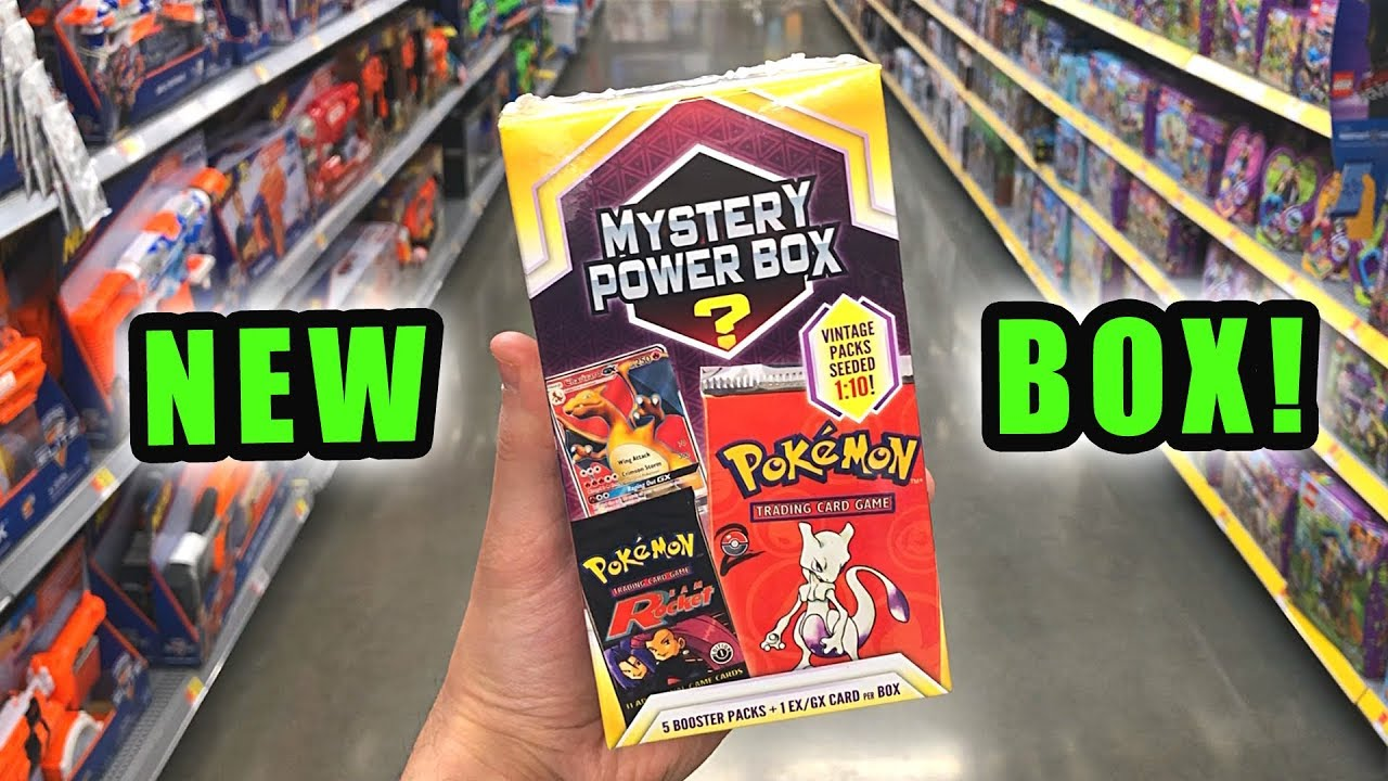 7ab32e9093 *NEW POKEMON MYSTERY BOX AT WALMART!* Opening Pokemon Cards MYSTERY POWER  BOX from the Store!