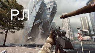 """""""Реакции Летсплейщиков"""" на падающий небоскрёб из Battlefield 4"""