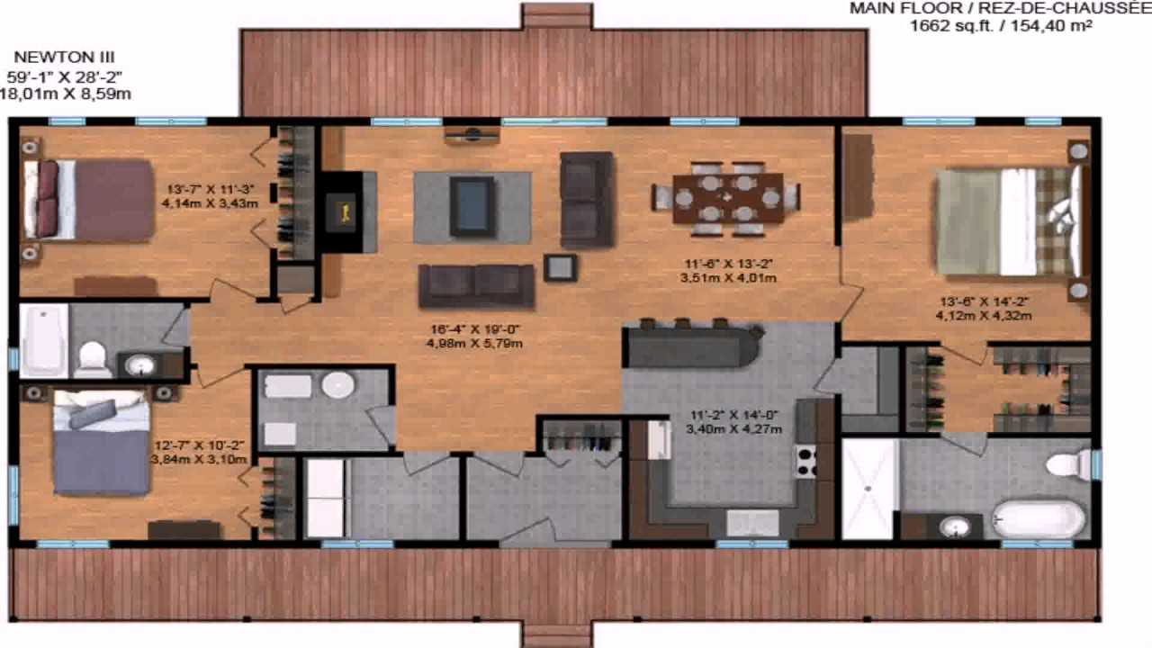 Ranch style house plans under 1500 square feet youtube for 1500 sf house floor plans