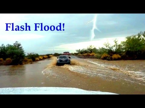 Flash Flood in Nevada Desert!! Scary Driving Through Flooded Roads & Monsoon Rains - USA Travel