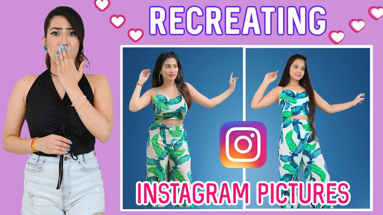 Fashion Challenge Recreating My INSTAGRAM Pictures   Anishka Khantwaal  