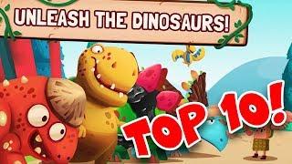 TOP 10 DINOSAURS!! | Dino Bash - Dinosaurs v Cavemen