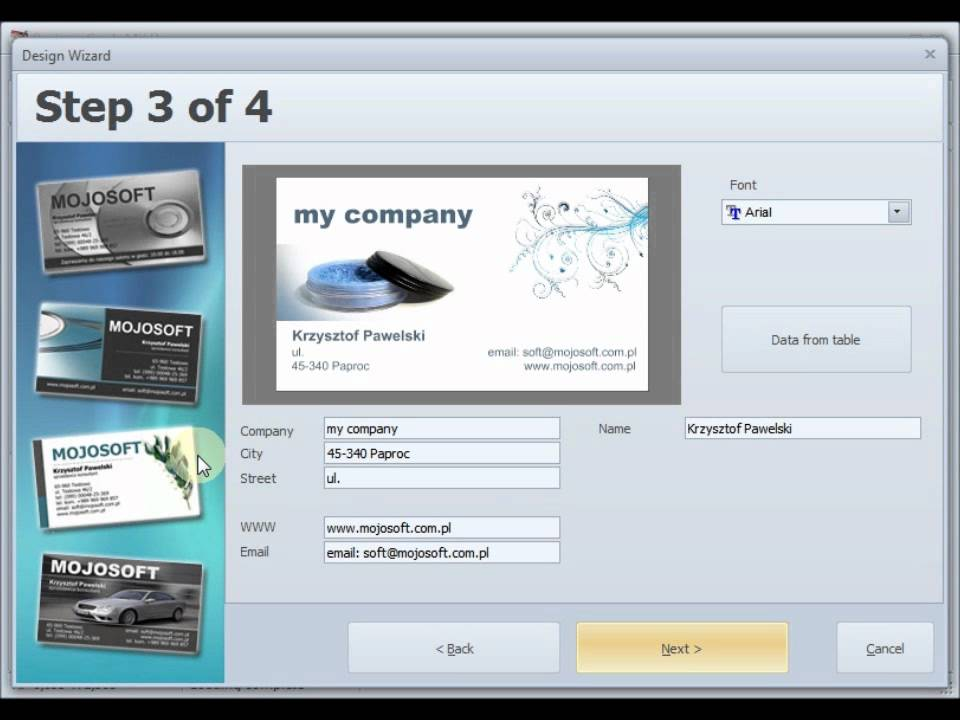 Business Cards - design wizard BusinessCards MX - YouTube