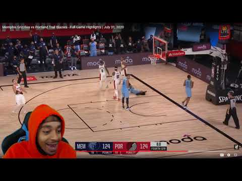 FlightReacts Memphis Grizzlies Vs Portland Trail Blazers - Full Game Highlights | July 31, 2020!
