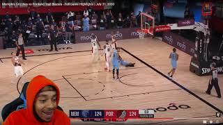 FlightReacts Memphis Grizzlies vs Portland Trail Blazers - Full Game Highlights | July 31, 2020!