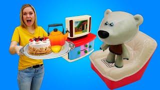 Познавательные видео для детей. Веселое чаепитие с Ми-ми-мишками! Классные развивающие игры.