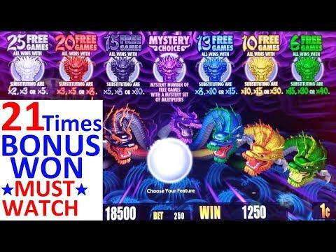 5 Dragons Rapid Slot Machine MEGA BIG WIN | ★FANTASTIC SESSION★ 21 Times BONUS Won| NON STOP BONUSES