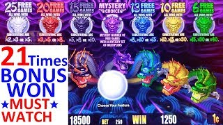 5 Dragons Rapid Slot Machine MEGA BIG WIN | ★FANTASTIC SESSION★ 21 Times BONUS Won| NON STOP BONUSES