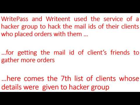 CHEATING OF CLIENTS BY WRITEPASS   CLIENT IDS   List 7