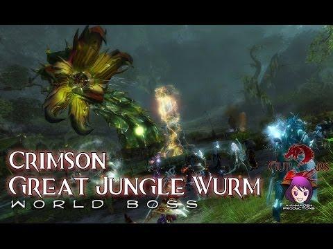 ★ Guild Wars 2 ★ - Triple Trouble - Crimson Great Jungle Wurm