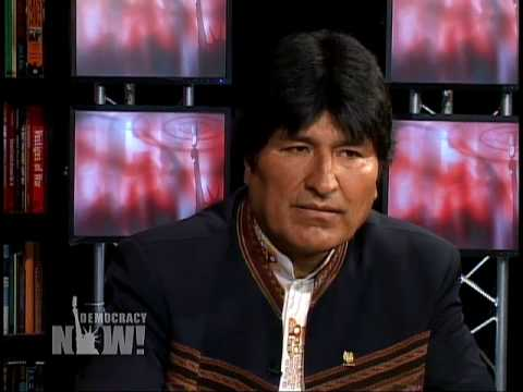 Evo Morales Interviewed by Democracy Now 11/18/2008 (1 of 5)