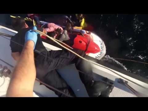 Video, Hellenic Coast Guard, Search and Rescue operation, Lesvos, Greece 10/28/2015
