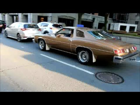OLD CARS CRUISING IN MONTREAL CANADA