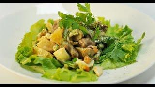 Тёплый салат с куриными сердечками | Дежурный по кухне