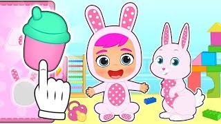 BABY LILY and RUBY Dress up as Coney the Baby Bunny from Cry Babies 👶 Cartoons Games For Kids