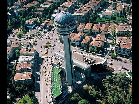 Ankara from Atakule, East Side, Turkey's capital city