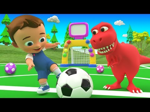 Colors for Children to Learn with Little Ba Fun Play ColorBalls Golf Dinosaur 3D for Kids Toddlers