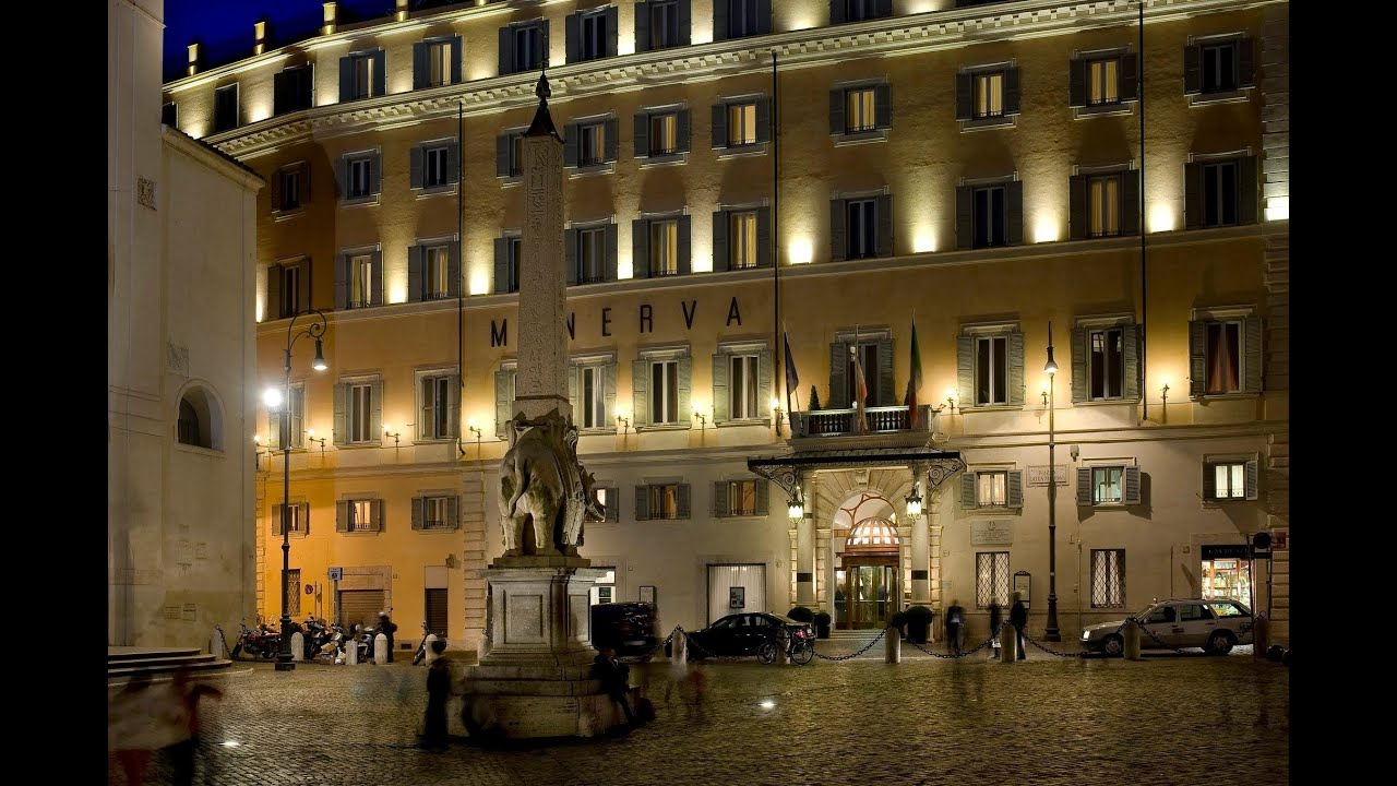 Grand hotel de la minerve rome italy youtube for Grand hotel rome