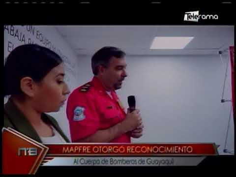 Mapfre otorgó reconocimiento al Cuerpo de Bomberos de Guayaquil
