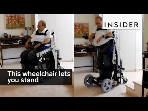 This wheelchair lets you stand