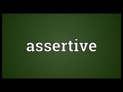 Assertive Meaning