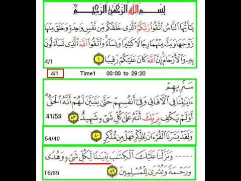 New Audio Lectuers with Quranic Text Darse Quran Surah An Nisa Ayah 01 by Ghulam Ahmed Parwez