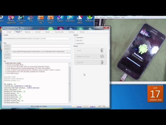 Reset FRP FOR SAMSUNG G531H Z3X BOX