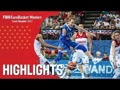 Turkey v Greece - Highlights - Quarter-Finals - EuroBasket Women 2017