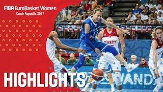 Turkey v Greece - Хайлайты - Quarter-Finals - EuroBasket Women 2017
