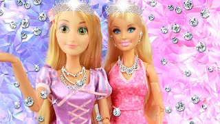 Princess Barbie & Rapunzel Jewelry Castle Accessory Dress