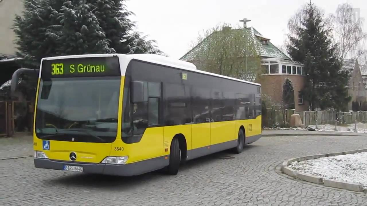 neue bvg bus linie 363 in berlin youtube. Black Bedroom Furniture Sets. Home Design Ideas