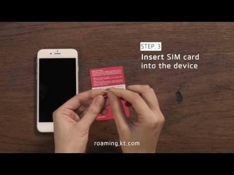 (ENG) How to use Korea sim card (for iOS user) . Korea Prepaid sim / simcard / at airport / KT