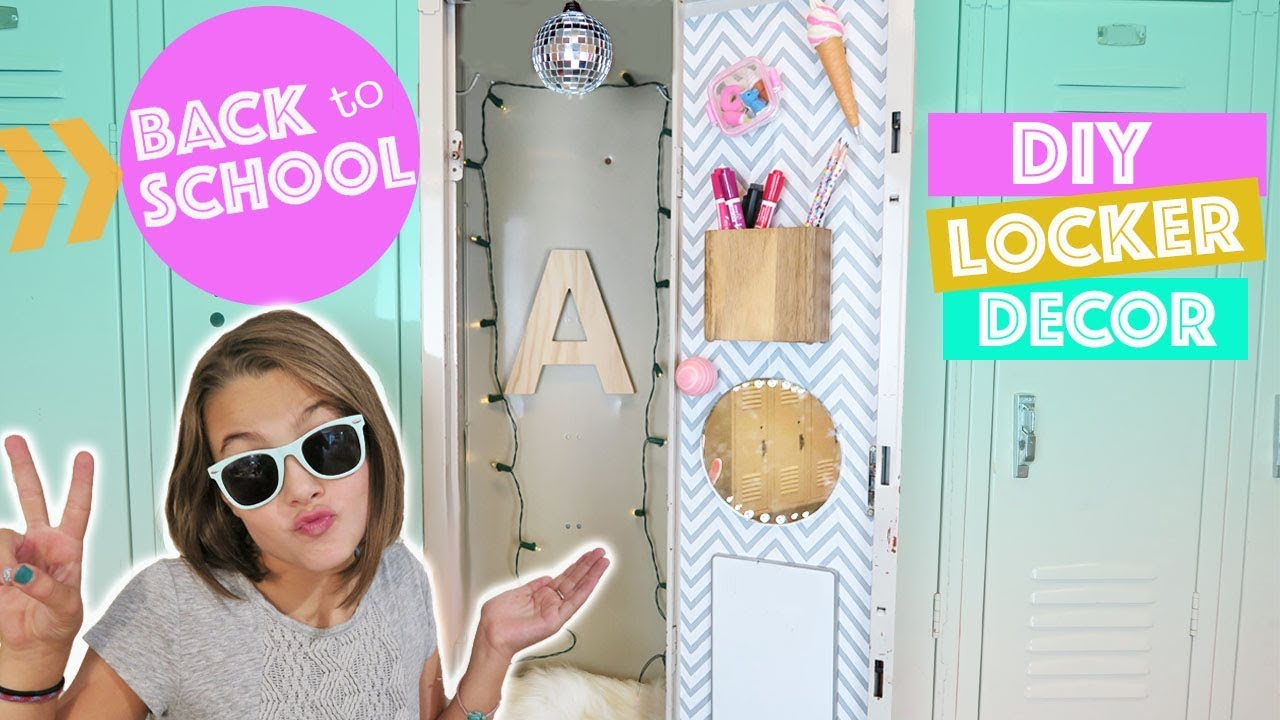 Back to school diy locker decor and organization how to for Decorative lockers for kids rooms
