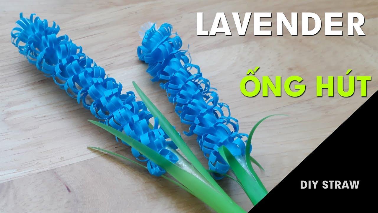 🍀Cách xếp hoa bằng ống hút cực dễ – Hoa lavender ống hút