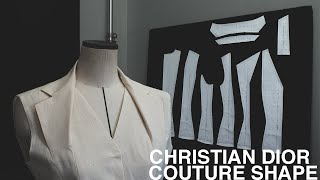 Christian Dior | Study of Couture Shape Collar 【Pattern making / Draping/ Sewing / Vlog】