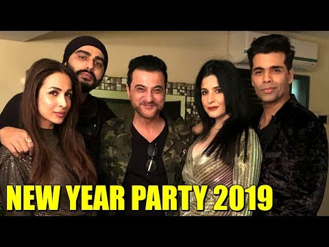 Arjun Kapoor With GF Malaika Arora Celebrates NEW YEAR 2019 PARTY | Sanja Kapoor New Year 2019 Party