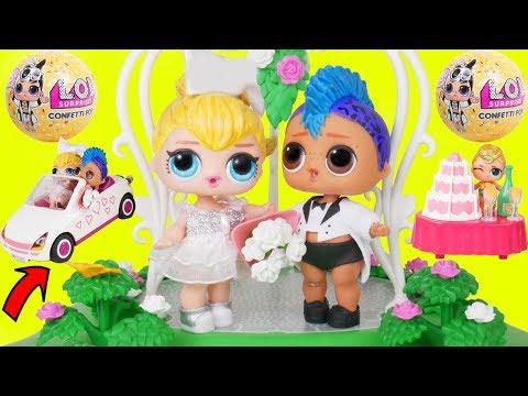 Punk Boi LOL Surprise Wedding with JOJO SIWA Get Married + Big Unicorn Luxes New Lil Brother Custom
