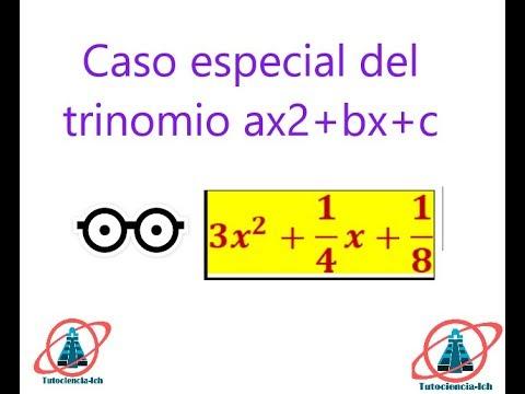 Caso Especial Del Trinomio De La Forma Ax2+bx+c #2