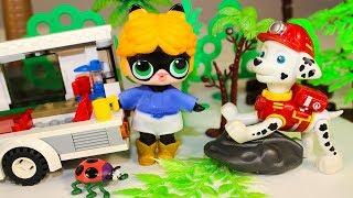 Мультики про Куклы ЛОЛ на пикнике Игрушки Щенячий патруль Мультфильмы для детей