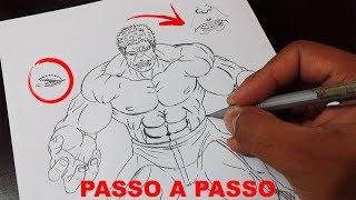 APRENDA a Desenhar o HULK DOS VINGADORES - How to Draw Hulk