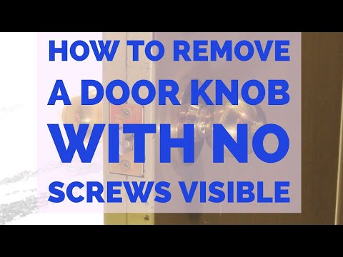 How To Remove A Door Knob Without Visible Screws